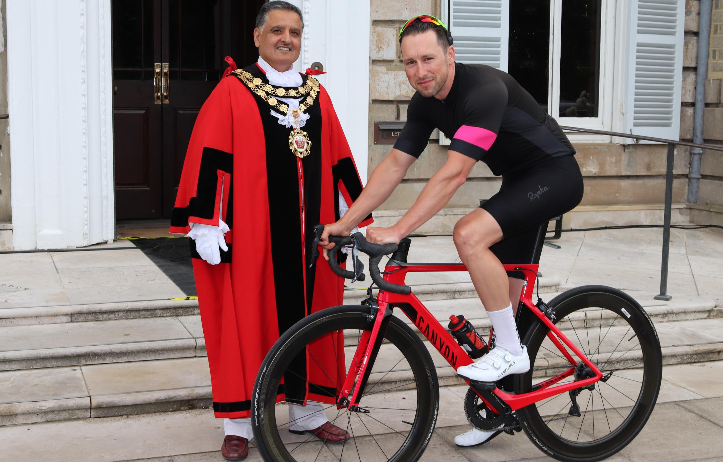 Mayor of Richmond upon Thames, Cllr Ben Khos and Joseph Fisher, Corporate Performance and Programmes Officer at Richmond Council