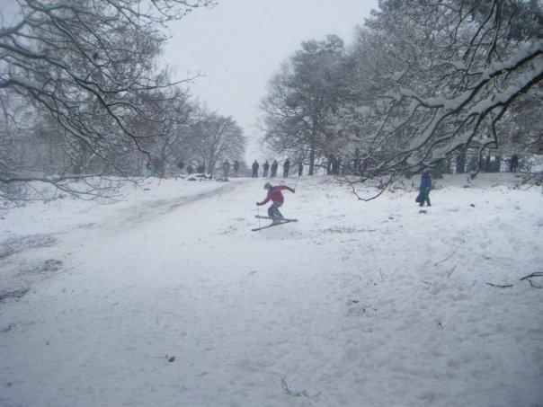 Richmond Park skiing