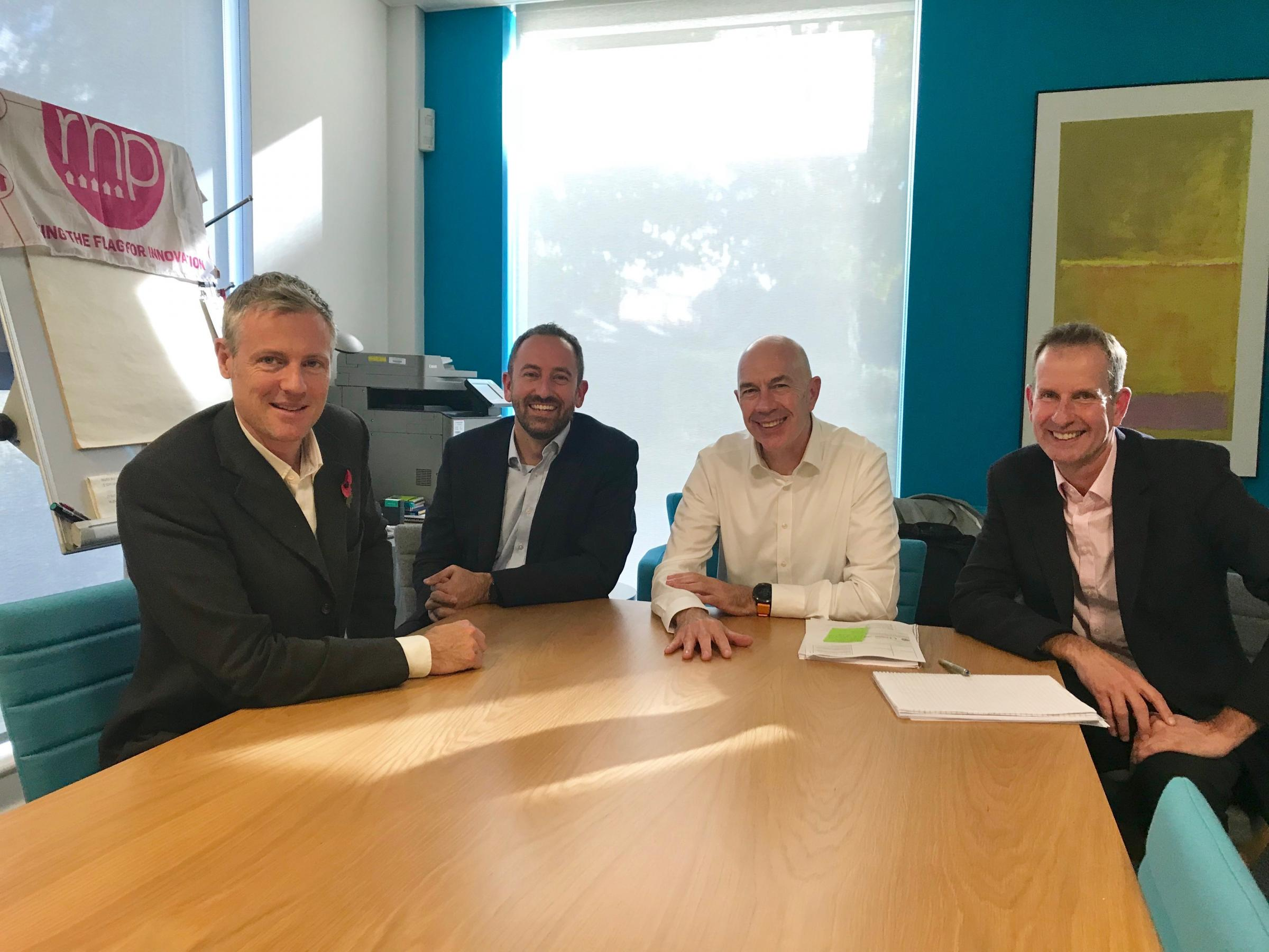 Zac Goldsmith met with representatives from Richmond Housing Partnership to raise residents concerns