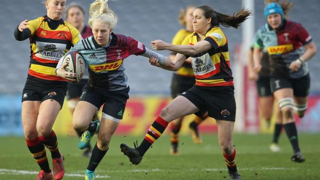 Heather Cowell of Harlequins Ladies (Photo by Steve Bardens/Getty Images for Harlequins)