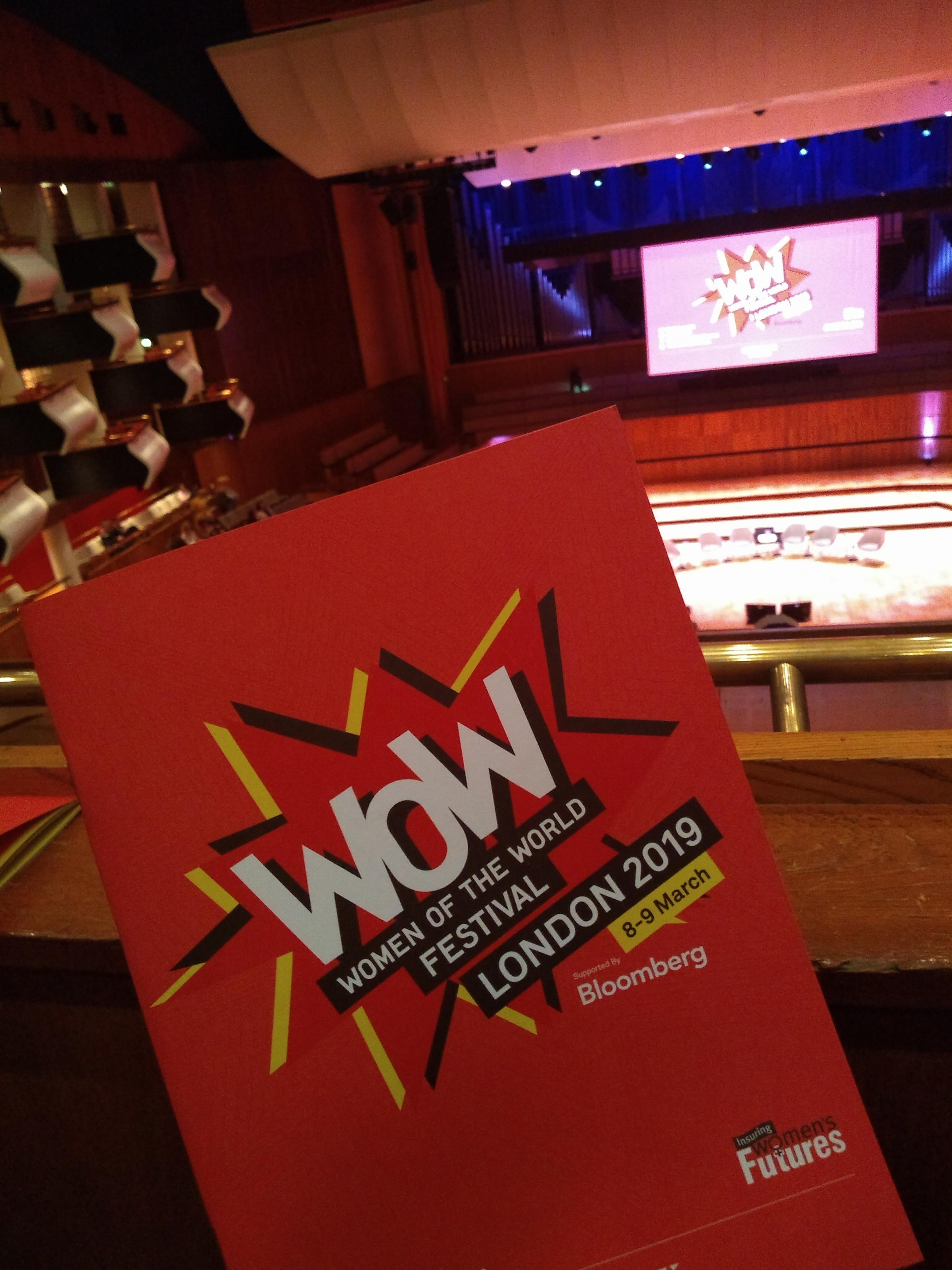 Brochure for the Women of the World festival at the Southbank Centre