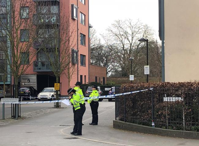 Police activity outside a block of flats on Union Lane, Isleworth after a teenager was found fatally stabbed on Friday. Picture: Aine Fox/PA Wire
