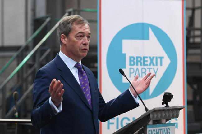 Nigel Farage launches the Brexit Party's European Parliament elections campaign in Coventry