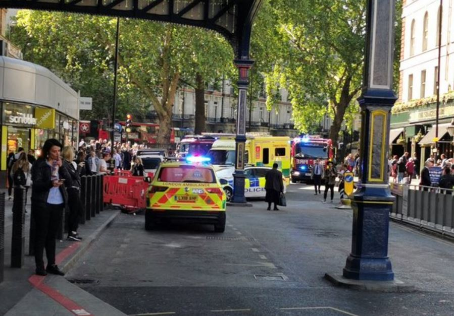 The scene outside Victoria station. Picture: Jo Halai