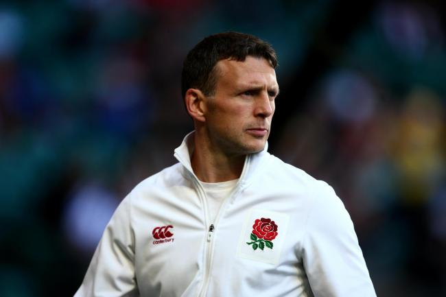 LONDON, ENGLAND - MAY 20:  England coach Simon Amor looks on during day one of the HSBC London Sevens at Twickenham Stadium on May 20, 2017 in London, United Kingdom.  (Photo by Jordan Mansfield - RFU/The RFU Collection via Getty Images)
