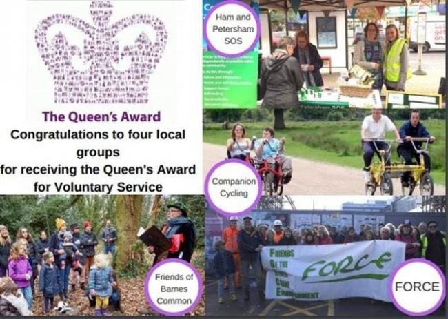 Four local community groups receive the Queen's Award for Voluntary Service